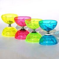 Wholesale LED Chinese yo yo Bearing Diabolo Kid Gift Juggling Set Metal Stick String bag