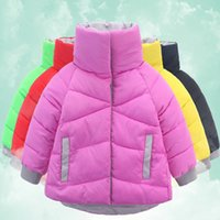 Wholesale Cheap children s coat Cotton candy color children The new winter cotton padded jacket color yards