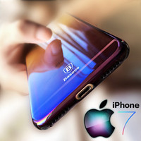 Wholesale Originality For iPhone Case luxury Aurora Gradient Color Transparent Case For iPhone s Plus light Cover Hard PC With Retail Package