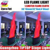 Wholesale By Fedex LED Flame Light With Meters Silk Fire Machine Stage mm Red White Led Flame Effect Satge Equipment