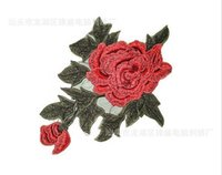 Wholesale Rose Flower Lace Polyester Flower Ribbon Trim Neckline Collar Applique Patch Scrapbooking Craft Sewing Supplies
