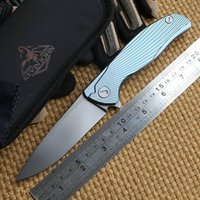 ceramic balls - Kevin John shirogorov S35VN blade Icebreaker F95 Flipper folding knife double row ceramic ball Titanium camping hunt pocket knife EDC tools