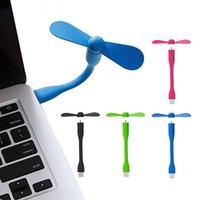 mini usb notebook fan - New Style USB Fan Super Mute Small Fan Portable Flexible Mini Fan for Notebook Laptop Computer