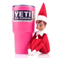 Wholesale 30 oz Pink Yeti Rambler Tumbler Stainless Steel Large Capacity Double Layer Car Tumbler Cup
