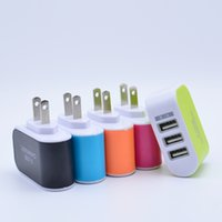 Cheap US EU Plug 3 USB Wall Chargers 5V 3.1A LED Adapter Travel Convenient Power Adaptor with triple USB Ports For Mobile Phone Iphone 5 6