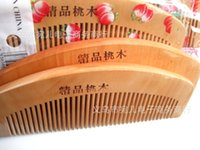 Wholesale 14 cm mahogany comb hair comb Mu health care comb hair comb anti static comb anti static comb a generation of fat naturally good