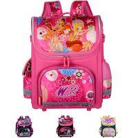 Wholesale Orthopedic Children School Bags For Girls New Kids Backpack Monster High WINX Book Bag Princess Schoolbags Mochila Escolar
