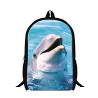 bags imprinted - Dispalang Dolphins D imprints High Quality School Bag For Boys Girls Animals Adult Shoulder Backpack Outdoor Traveling Rucksack
