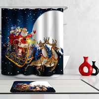 bath room curtains - Simple Fashion Shower Curtain Santa Clause Horse Waterfall Penguin Girls Polyester Curtain Bathroom Waterproof Curtains for Bath Room