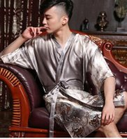 amazing choice - Men robe bathrobes plus men size robes for men sexy sexy amazing bathrobes new silk robes are one of your best choice
