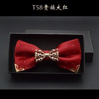 Wholesale Big Red bow tie noble garnish of a metal