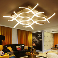 advance art - LED dimmable ceiling lights postmodern indoor lighting art creative personality wave shape ceiling lamps for theme hotel ho advanced acrylic