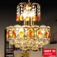 Wholesale Luxury Modern Crystal Chandeliers Gold Chandelier Lighting Bohemian Crystal Chandelier Hanging Lamps for Hotel Living room