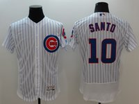 baseballs ron - 2016 Flexbase Mens Chicago Cubs Ron Santo Baseball Jerseys White Prinstripes Cheap Outlets Store