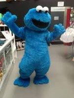 Wholesale OISK Fast Sesame Street Blue Cookie Monster mascot costume Cheap Elmo Mascot Adult Character Costume Fancy Dress