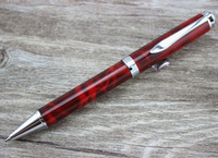 ballpoint pen mechanism - Red silver clip Classique deep black precious elegant ballpoint pen with twist mechanism