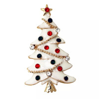 Wholesale 2016 Christmas tree brooch Christmas gifts zircon personalized brooch pins factory outlets