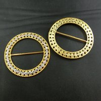 alloy chairs - 2016NEW mm outer gold round rhinestone buckle for Chair Cover