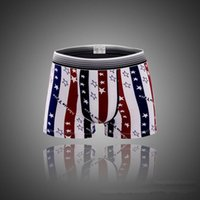 Wholesale Men s Sexy American Flag Underwear Boxer Briefs Trunks Shorts Pants Panties