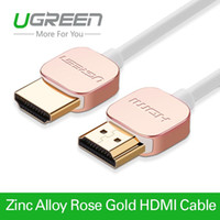 apple tv connector - Ugreen Metal HDMI cable rose gold high speed HDMI to HDMI connector M M M HDMI K P D for PS3 projector Apple TV