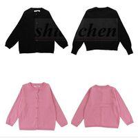 Wholesale Kids Ins Cardigan Fashion Sweater Ins Knit Cardigan Long Sleeve Coat European America Outerwear Crochet Knitwear Baby Ins Clothings A897