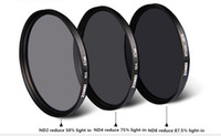 Wholesale Professional Zomei mm ND ND2 ND4 ND8 Filter Neutral Density Filters Densidade Neutra Protector Filtro for Canon Nikon Sony Camera Lens