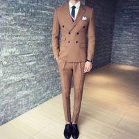 best fitting shorts - Men s Suits Dark Khaki Groom Tuxedos Groomsmen Fit Best Man Suit Wedding Men s Suits Bridegroom Jacket Trousers Vest