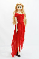 Wholesale Lin s handmade girl red doll dress clothes accessories for Barbie Momoko Nippon Blythe Jenny quot Obtisu and similar