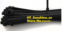Wholesale 500 mm UV Protected Black Computer TV Self Locking Plastic Nylon Cable Loop Cord Wire Zip Ties Strap