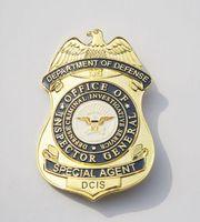 Wholesale The United States Defense Criminal Investigation Bureau lDCIS agent SpecialAgent metal badge of pure copper