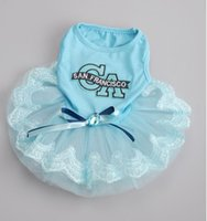 apparel ca - Fashion CA Pet Puppy Wedding Dress With Bowtie Dog Apparel