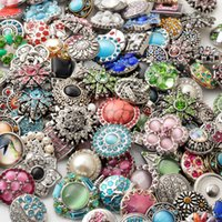 Wholesale Hot High quality Mix Many styles mm Metal Snap Button Charm Rhinestone Styles Button rivca Snaps Jewelry