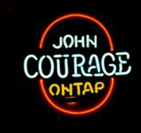 bar beer taps - John Courage On Tap Beer Neon Sign Real Glass Tuble Handicrafted Custom Store KTV Disco Club Bar Display Advertising Neon Signs quot X17 quot