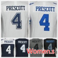 Wholesale 2016 Women Cowboys Dak Prescott football jerseys Replica Newest sewing Name and Logos Welcome to order