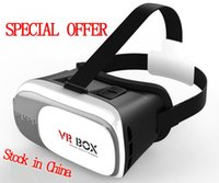 Wholesale 2016 Google Cardboard VR BOX II Version VR Virtual Reality Glasses Smart Bluetooth Wireless Mouse Remote Control Gamepad