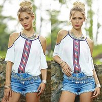 off the shoulder tops - 2016 new women tops white silk top Sexy The Shoulder Off Blouse Fashion Chiffon short Sleeve Shirt Casual Summer Plus Size Tops
