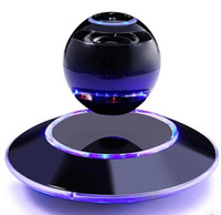 Wholesale High end maglev wireless bluetooth stereo mini mobile computer speakers creative high end gifts small lamp