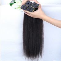 8-30 pouces Cheveux gros brésilienne Cheap Weave 8A Peruvia Indian Malaysian Hair Extension de cheveux pré-bond cheveux raides Livraison gratuite