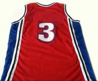 Wholesale Like Mike Jersey Number Basketball Movie Jerseys Mens Stitched and Embroidery Baketball Jerseys Red White S XXL