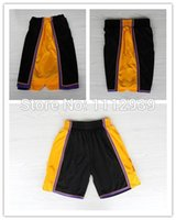 Wholesale USA Los Angeles New Men Shorts Basketball Sports Shorts Wilt Chamberlain Pau Gasol Shorts Rev Embroidery