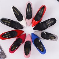 big red variety - Casual shoes high heels pointed work shoes wedding shoes heel OL red big yards a variety of color options