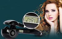 auto tec - Negative ion Magic hair curler LCD display screen auto hair device Ceramic PTC Heater LCD Digital Auto Hair Curler Magic Tec Hair Curler