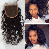 best human hair brand - Best A Top Quality Brazilian Lace Closure Water Wave quot x4 quot Free Part Brand Human Hair Brazilian closure