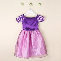 Wholesale Purple Frozen Dress Dress Princess Cinderella Dress girl s kid Christmas Halloween Role play Costume Snow White Rapunzel Dresses For Girls