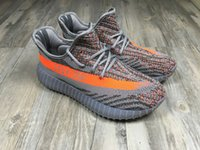 aa fabric colors - Kanye West Cheap Boost V2 Grey Orange colors Running Casual Shoes AA High Quality Version Sizes Sneaker
