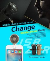 Wholesale New Arrival Cell Phone Shaver Mini USB Shaving Razor Outdoor Portable Travel Razor for Man For Iphone Adroid