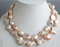 baroque freshwater cultured pearl necklace - 15 mm Pink Natural Baroque Freshwater Cultured Pearl Necklace