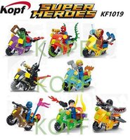 big league minis - KF1019 Building Blocks Super Heroes Avengers League Heroes Minifigures Big Motorcycle Model Bricks Children Toys Christmas Gift Mini Figures