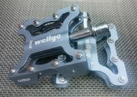 Wholesale WELLGO KC001 Mountain Bike Pedal MTB Folding Dead Fly g Aluminium Alloy Pedals Bearing Pedal Peilin Bike Pedal