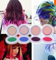 Wholesale 4 Colors Temporary Hair Dye Chalk Compact Candy Color Pressed Powder For Hair Coloring X MPJ191